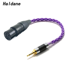 Haldane alta fidelidade 10cm 2.5mm trrs masculino equilibrado para 4 pinos xlr fêmea equilibrada cabo adaptador de áudio para ak240 ak380 ak320 DP X1 (roxo)