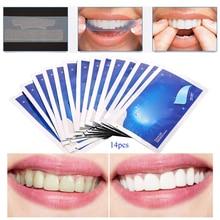 28Pcs/14Pair Gel Teeth Whitening Strips Tooth Dental Oral Hygiene Care Bleaching Tools
