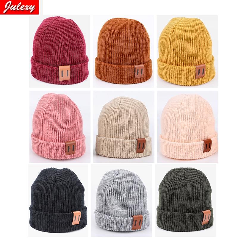 Baby Hat for Boy Warm Baby Winter Hat for Kids Beanie Knit Children Hats for Girls Boys Baby Cap Newborn Hat 1P C9 Colors
