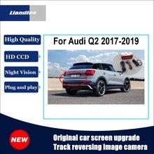 Liandlee For Audi Q2 2017-2019 Original Car Screen Upgrade Reversing Image Camera Track Handle Rear View Plug And Play