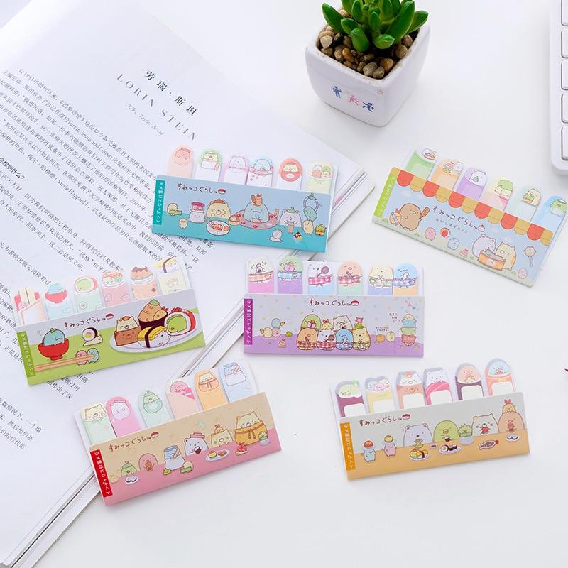 Rice Tea Play Sumikko Gurashi Memo Pad N Times Sticky Notes Escolar Papelaria School Supply Bookmark Label