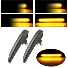 2pcs Car Left & Right Side Marker Turn Signal Lights Lamps For BMW E65 E66 E67 4D Sedan Solo 2002-2008 Light Lamp