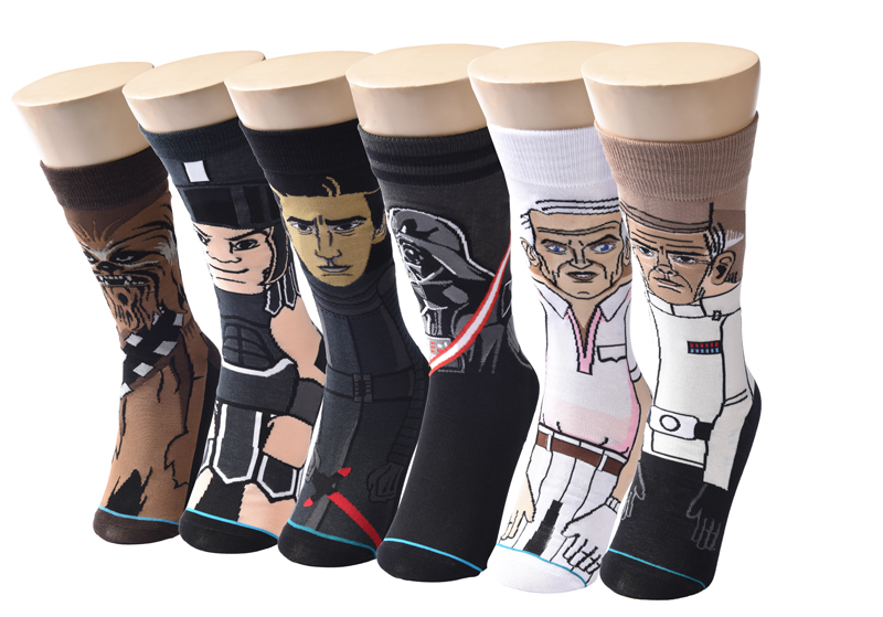 2019 Sale Hot Star Wars Autumn And Winter New Cartoon Funny Men Socks Stockings Planet Battle Vader High Quality New Socks