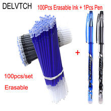 DELVTCH 100 Pcs/Set Office Signature Gel Pen Refill Rod Magic Erasable Accessories 0.5mm Blue Black Ink Writing Tools