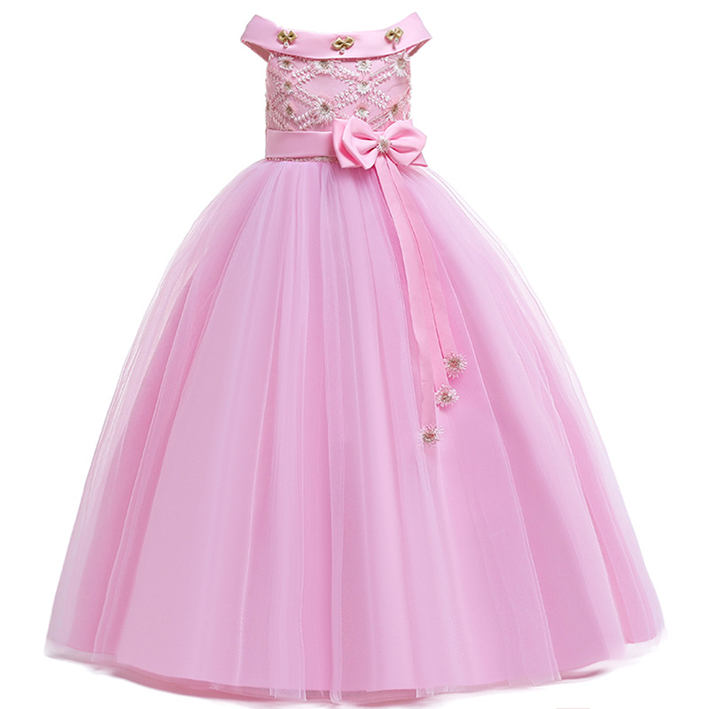 2019 Flowers Girl Dresses Appliques Dress Holy Communion Ball Gowns Dresses Kids Party Ball Gown Dress Vestido Comunion