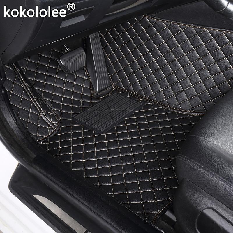 kokololee  Custom car floor mats for Skoda all models octavia fabia rapid superb kodiaq yeti car styling car accessories Mitsubishi Pajero