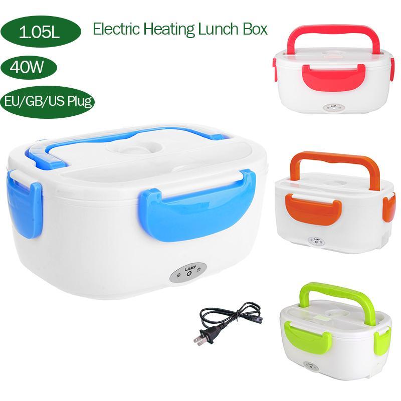 1.05L 110/220V 40W taşınabilir elektrikli yemek kabı gıda sınıfı yemek kabı ısıtma kabı gıda ısıtıcısı ab abd GB fiş araba girişi
