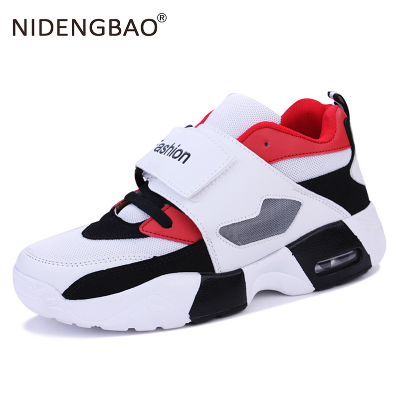 Spring Summer Shock-absorbing Sneakers Men Fashion Running Shoes Breathable Casual Men's Shoes Thick Bottom Male Sport Sneakers