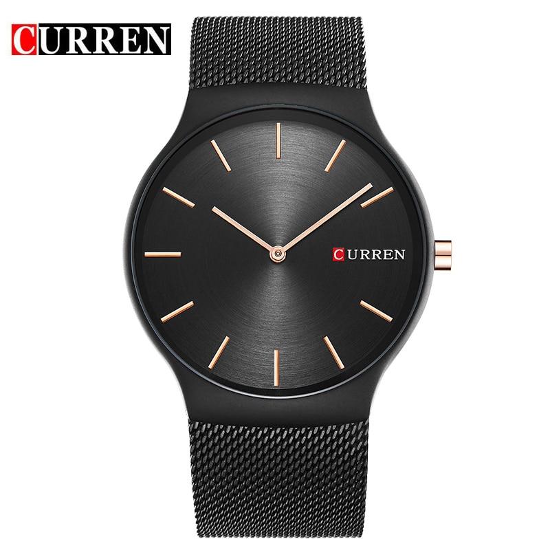 CURREN 2017 New Black Rose Gold Pointer Relogio Masculino Luxury Brand Analog Sports Wristwatch Quartz  Business Watch Men