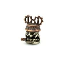 Diy-Tools Lanyard Skull-Knife-Beads Pendants Copper-Pipe EDC Brass Outdoors Key-Rings-Accessories/b