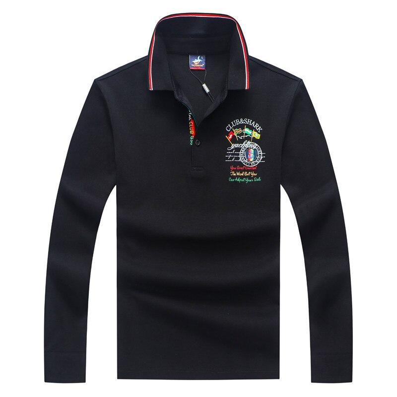 Tace & Shark Brand Long Sleeve Polo Shirt Men Smart Casual Business Para Hombre Male Cotton Shirt Breathable Undershirt