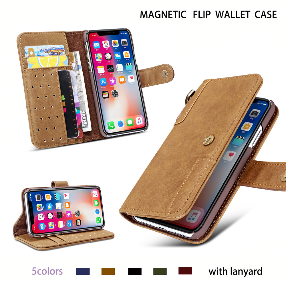 Image 2 - Luxury Magnetic Case for New iPhone 11 Pro Max 2019 XI RX XS MAX XR Leather Wallet Business Book Flip Stand Cover phone case-in Wallet Cases from Cellphones & Telecommunications