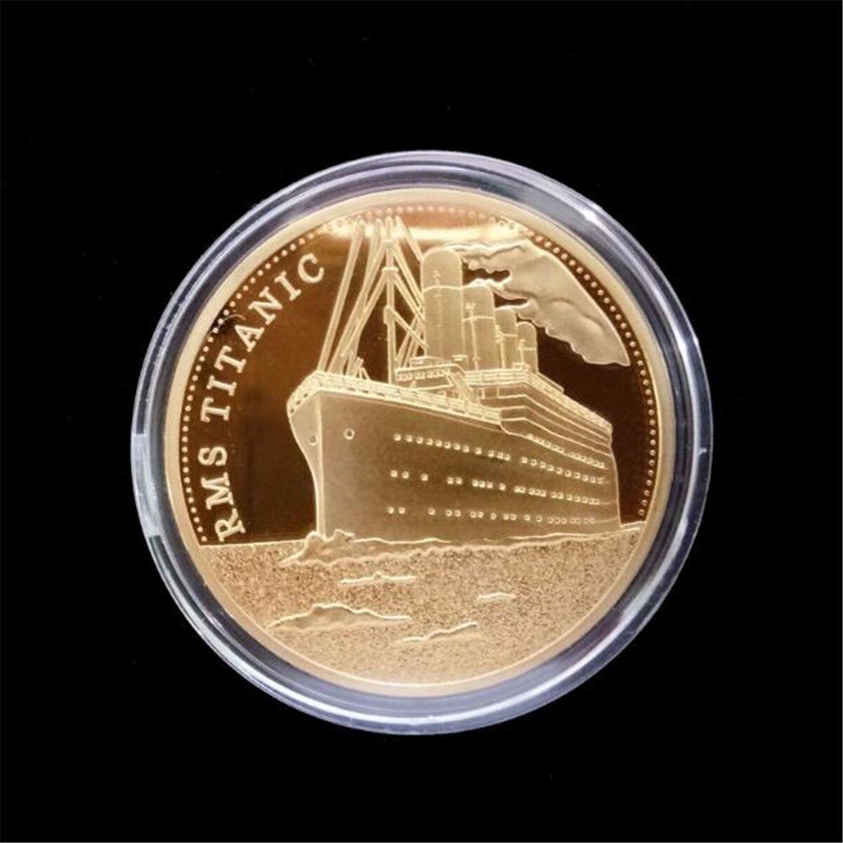 Rms titanic moedas comemorativas vítimas euro titanics navio de cruzeiro ouro metal comemorativa tragédia coleção de moedas