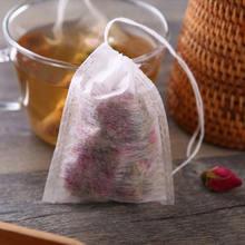 500 шт/лот пустые чайные пакетики из кукурузного волокна пищевые