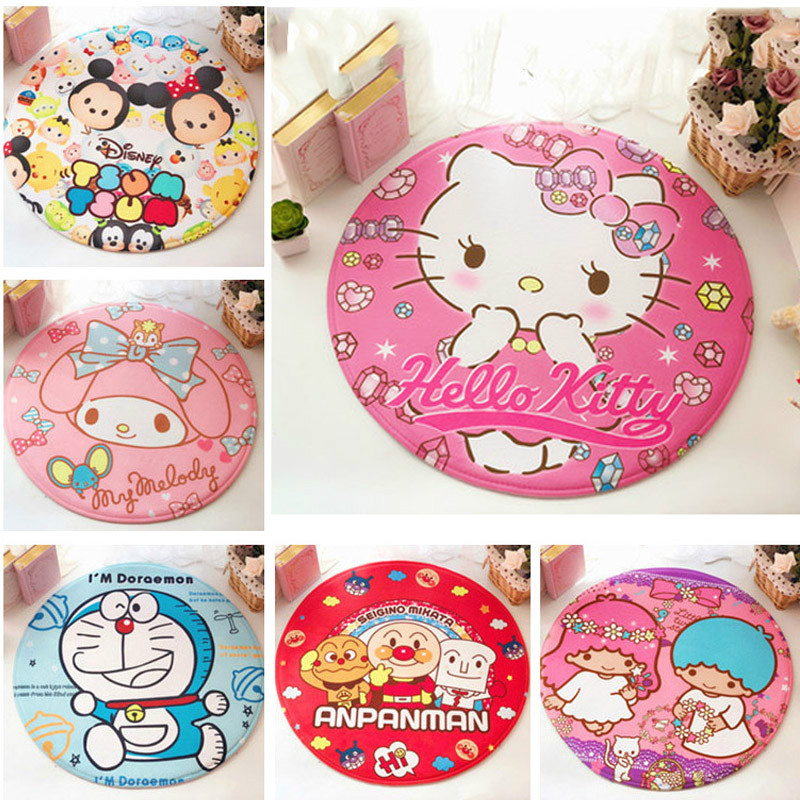 SKTEZO 2019 New Children's Bedroom Anti-slip Mats Area Rug  Hello Kitty Bath  Bathroom  Carpets For Living Room  Rug