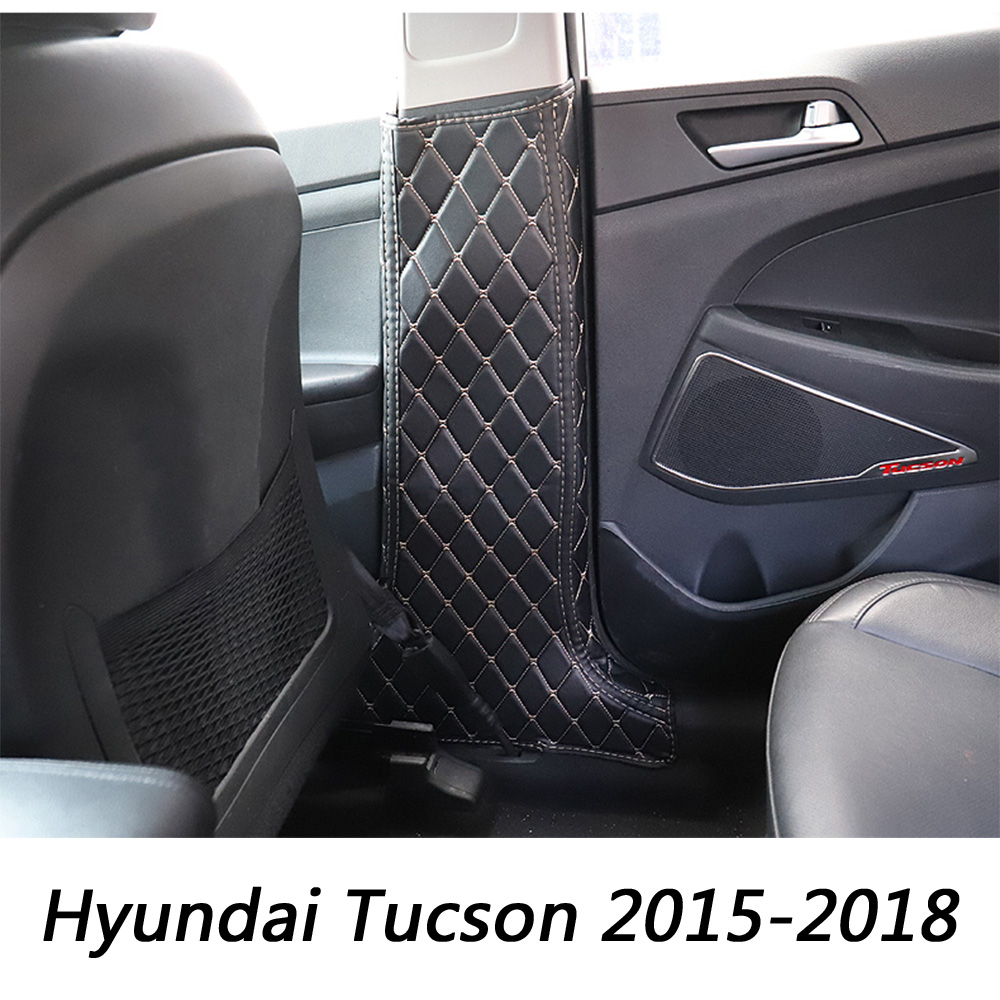 Автомобильная дверь B столбы анти ногами коврик для Hyundai Tucson 2015 2016 2017 2018 Боковой защитный коврик подушка