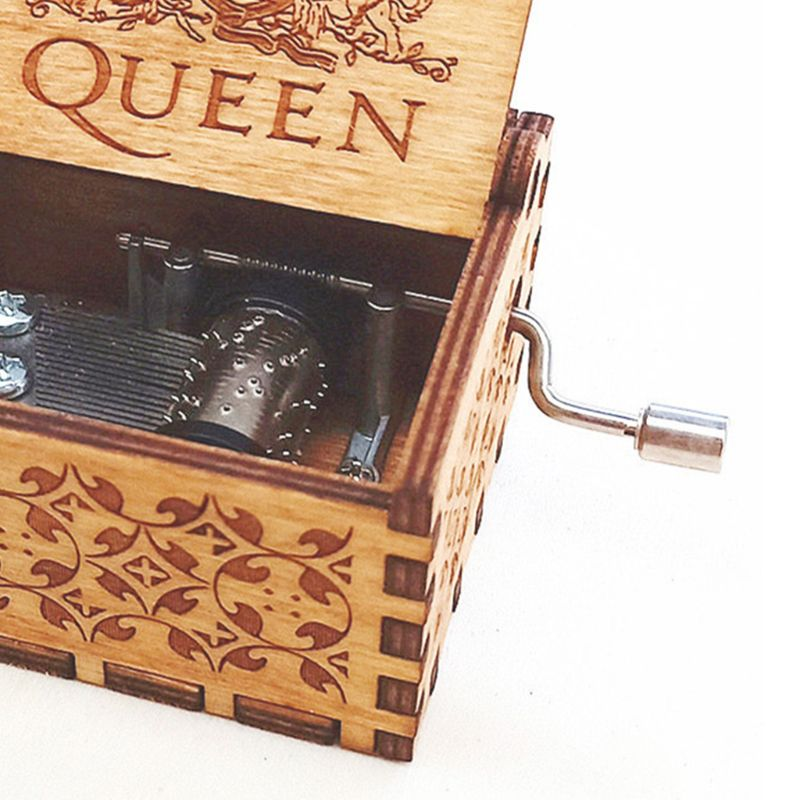 Music Box Hand Crank Engraved Musical Box Personalizable Gift for Daughter GXMA