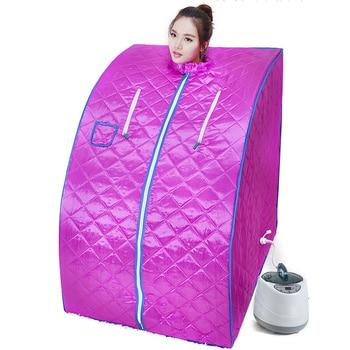 Home Sauna Steam Box Skin SPA 2000W 4L EU Plug Portable Steam Sauna Tent Steamer Weight Loss Health Care Steam Shower Generator