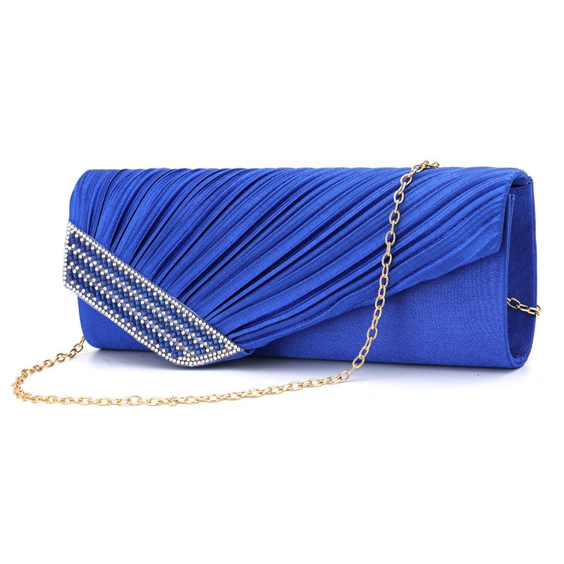 Stylish Women Rhinestone Handbag Evening Party Clutch Bag Wedding Wallet Purse 517D title=
