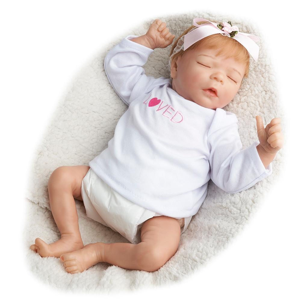 17 polegadas Darren de Dormir Recém-nascidos Bebe Reborn Lifelike Bonecas Reborn Vinil Boneca Brinquedos de Presente Para A Menina Crianças LoL реборн Vivo