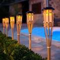 Thrisdar бамбуковый садовый фонарь светильник ручной работы, садовый фонарь светильник на солнечной батарее, фонарь светильник на солнечной ба...