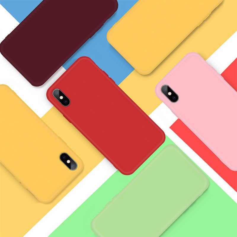 الأزياء الحلوى اللون سيليكون حقيبة لهاتف أي فون Xs ماكس Xs Xr X 7 8 زائد 11Pro 6 6S 5 5S زوجين الهاتف غطاء ل فون 11 11Pro ماكس