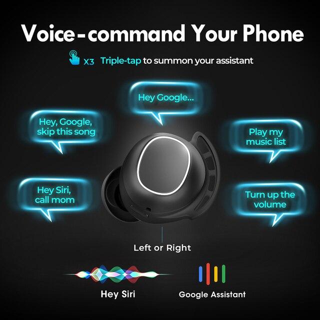 M30 Plus Bluetooth 5.0 Earphones True Wireless Earbuds Touch Control IPX8 Waterproof Headphones with 2600mAh Charging Case 3