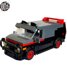 NEW A-Team Van in minifig special car fire engine missile car plane building block truck house building block boy hand toy