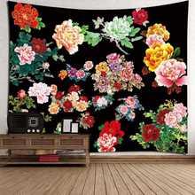 Гобелен настенный художественный цветок узорчатый декоративный