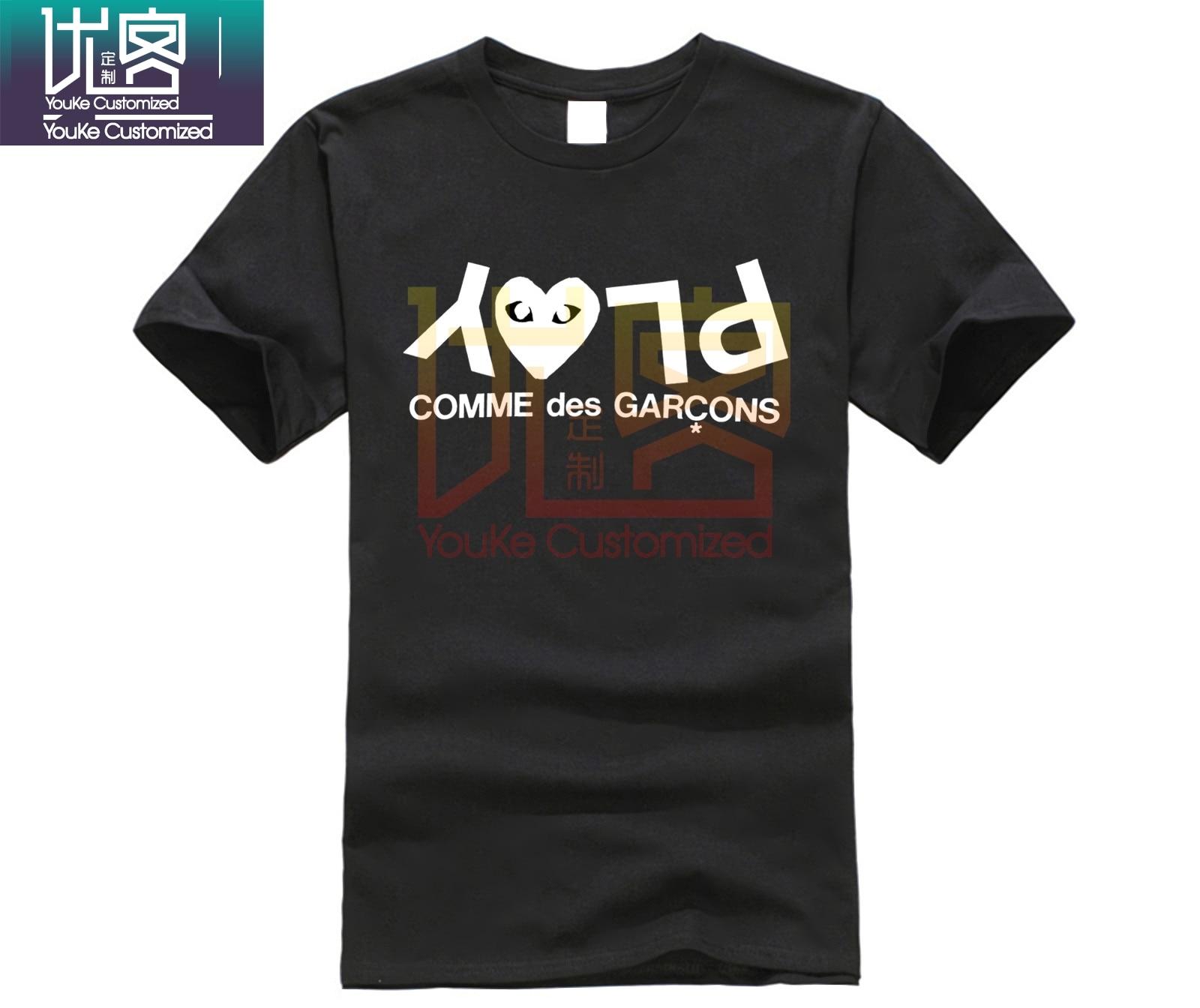 Comme des garcons T-Shirt personnalisé logo di cotone t-shirt en jersey stampa casual del cotone T-Shirt