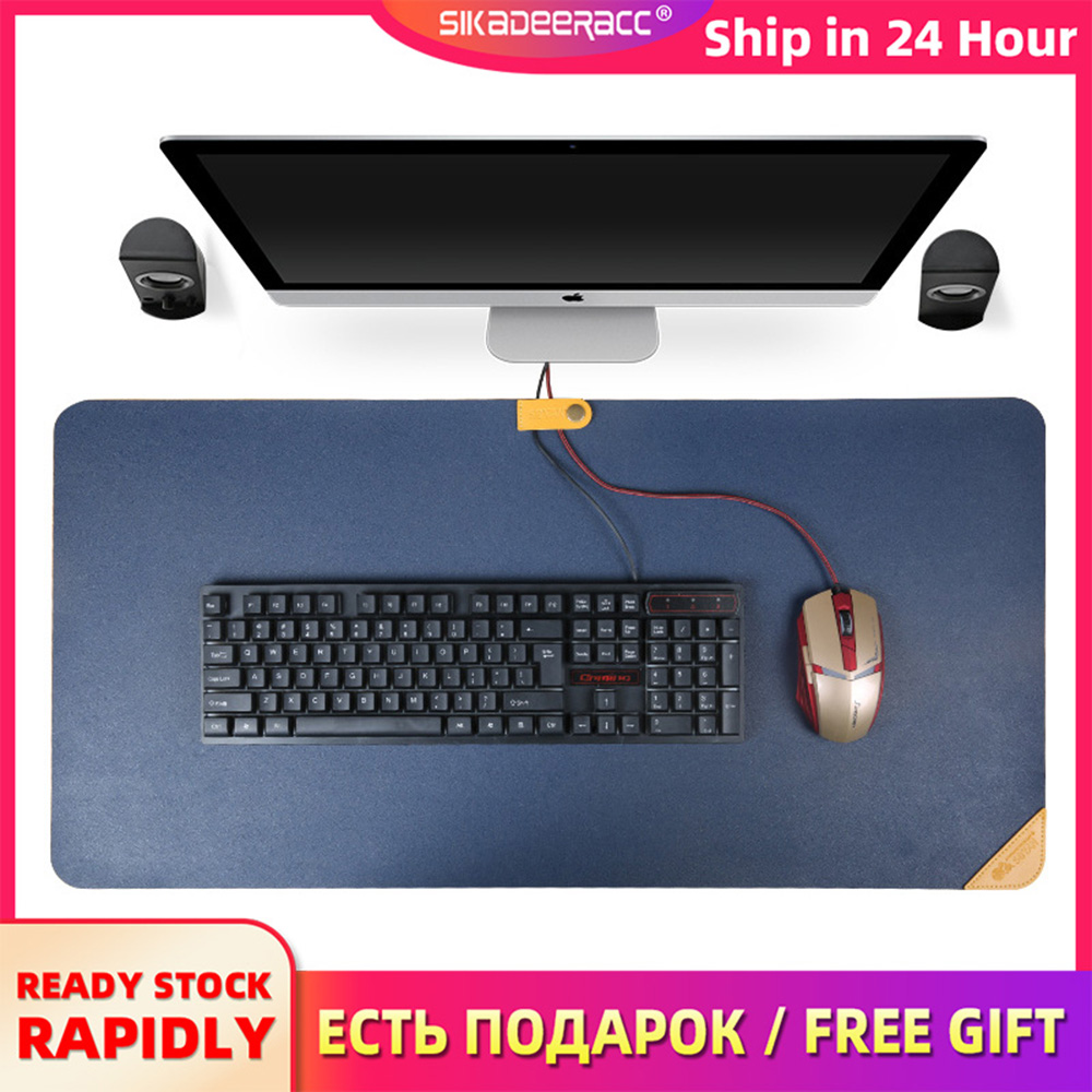 Mouse Pad Large Desk Pvc Office Gaming 900*450mm Leather Multicolor Simple Tablet Keyboard Anti Slip Plain For Laptop Notbook