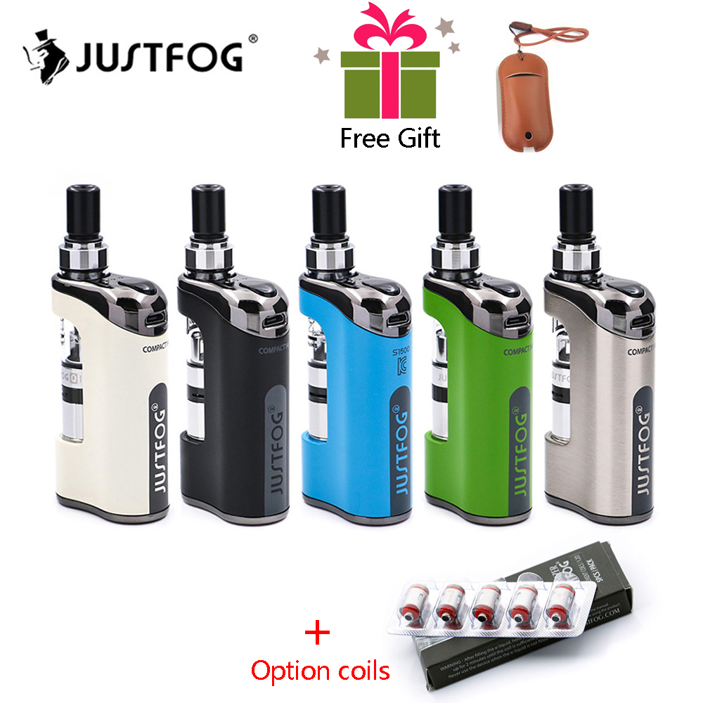 In stock E Cigarette JustFog Compact 14 Kit 1500mah built-in battery with 5PCS Justfog Coil vs Justfog Q16/Q14 Kit