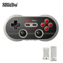 Joystick gamepad 8bitdo n30 pro2, controle wireless, mit para switch, steam, windows, macos, android, raspberry pi