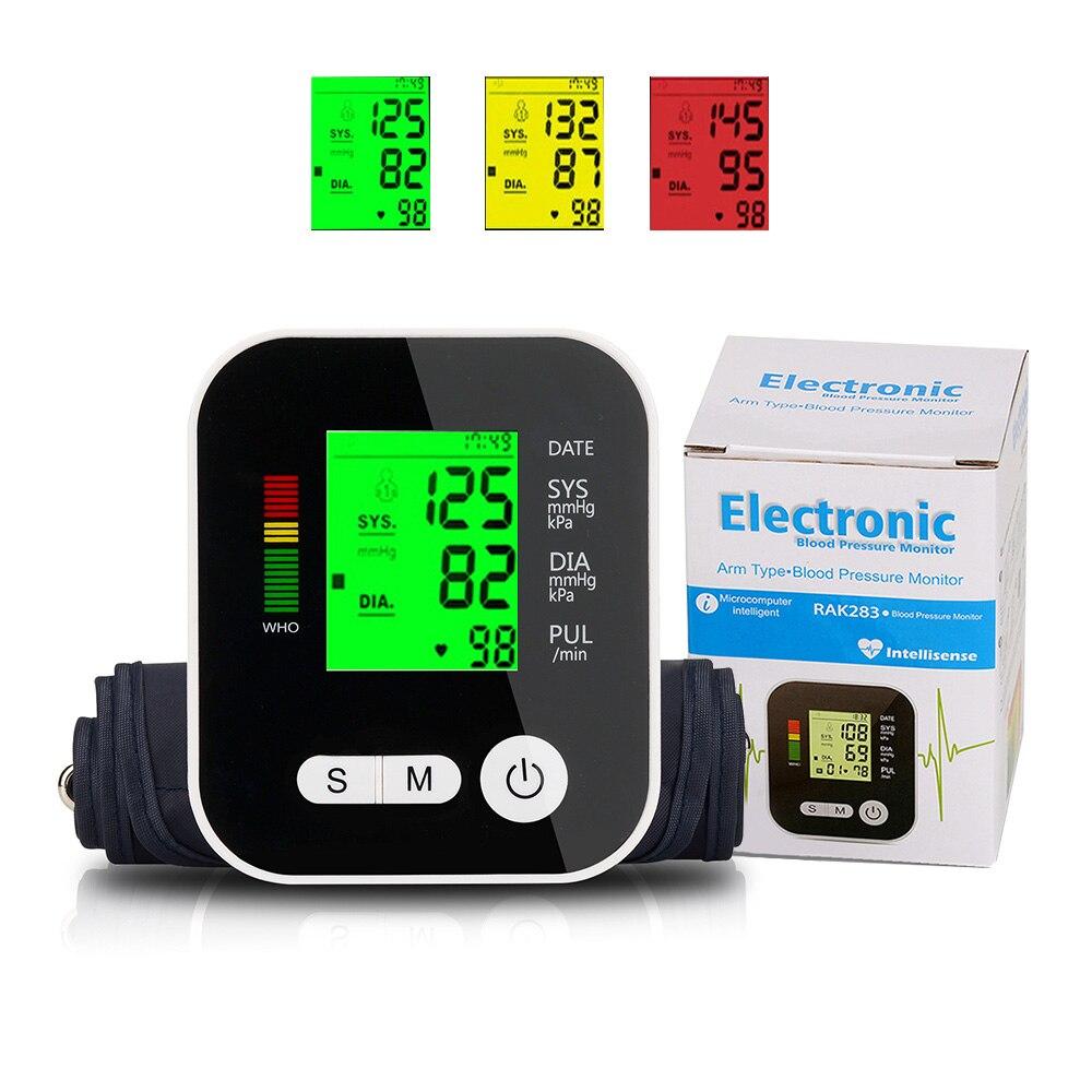 Hintergrundbeleuchtung Tonometer Elektrische Blutdruck Monitor Medizinische Ausrüstung für Mess Herz Schlagen Meter Maschine Drei Farbe Rem