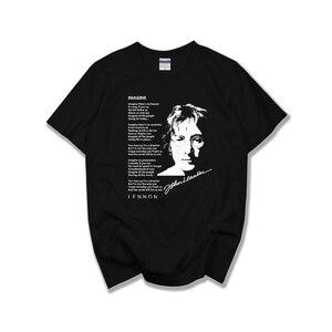 Джон Леннон-имагин футболка футболки короткий рукав мужской женский топ классический рок-группа Великобритания