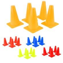 5 шт. пластиковый набор конусов для спорта футбол безопасность ловкость тренировочный скейтборд Катание на коньках