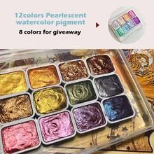 20 cores, 12 cores perolado pigmento da aguarela, 8 cores giveaway