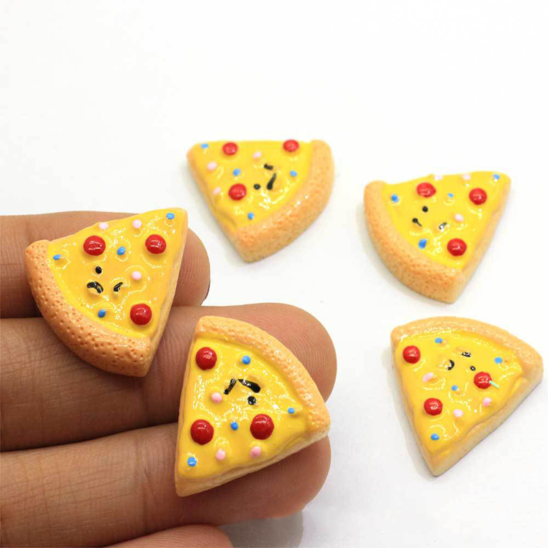 Happy Monkey Slimes Additives Cute New Resin Pizza Charms Kawaii DIY Kit Filler Decor For Fluffy Cloud Clear Crunchy Slime Clay