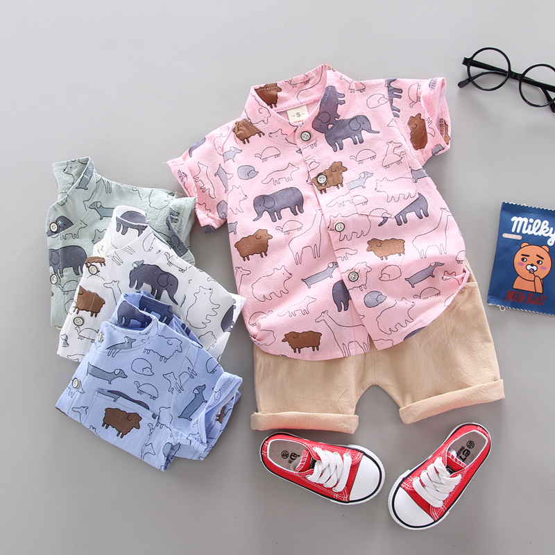 summer Children's Clothes Sets Boys and girls Short sleeve shirt and Pants 2 pieces Clothing sets children's clothing Baby 1