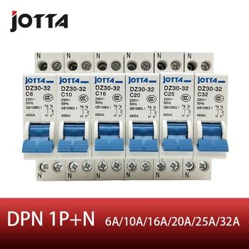 цена на JOTTA DPN 1P+N Mini Circuit breaker MCB 10A 16A 20A 25A 32A