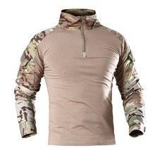 Охотничья футболка с длинными рукавами армейские боевые военные