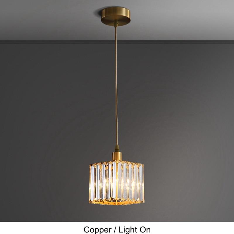 Nordic Kupfer Esszimmer Anhänger Licht Schlafzimmer Loft Stil Bar Mini Suspension Leuchte Licht Leuchte Mit E27 12W LED birne - 3