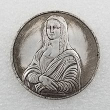 Italy Da Vinci Mona Lisa Old Coins Collectibles Euro Non-currency Original for Souvenir Gift Collection
