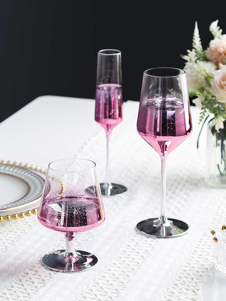 Farbe Starry Sky Rosa Becher Kristall Champagner Glas Hochzeit Wein Glas Party Geschenk Nordic Mode Hause Cocktail Glas