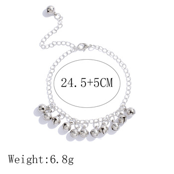 Vintage Christmas Bell Chains Anklets Fashion Simple Sliver Bracelet & Anklet For Women Men Xmas Jewelry Gifts 4