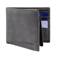 Wallet Purse for Men Genuine Leather RFID Wallet Mens 8 Card Holder Bifold Wallet