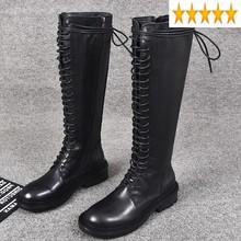 Jesień nowa marka Euro krzyż wiązanej kobiet wysoki brytyjski motocykl zimowy okrągły nosek Zip kobiece skórzane buty rycerskie tanie tanio SICCSAEE MD (pochodzenie) Mikrofibra Podkolanówki Wiązanej krzyżowe Stałe Plac heel Podstawowe Prawdziwej skóry Zima