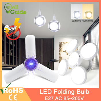цена на LED lamp E27 40W 9W AC 85-265V Cold White Warm White LED Bulb Bombilla Spotlight Lampada LED light football UFO lamp for home
