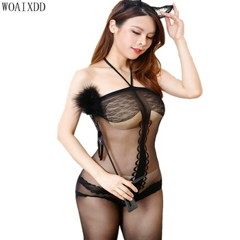Open Croth Bodystocking