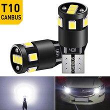 2 sztuk T10 W5W 194 Led żarówki CANBUS parkowanie samochodowa światła boczne LED bagażnika lampa dla Peugeot 206 308 307 207 12V biały 6000K